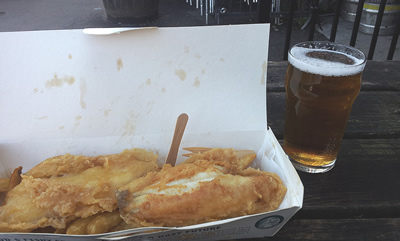 Fish n Chips and a pint